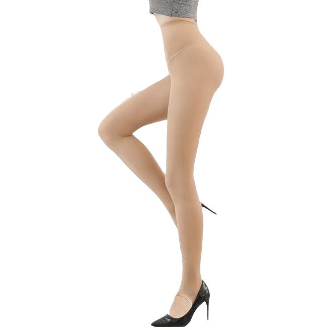 美尔丝 女士缎面连裤袜 80D 踩脚款