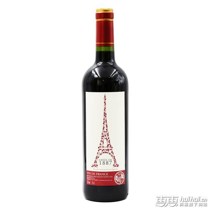 【法国进口】埃费尔铁塔红葡萄酒 混酿品种
