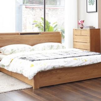 维莎 w0616 日式实木储物床 升级全