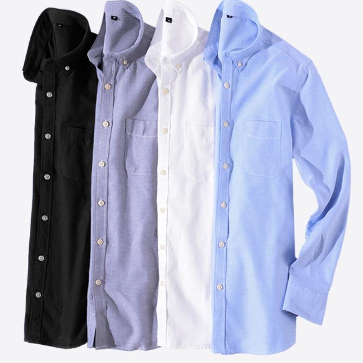 麻博 牛津纺男士衬衫 M-4XL码可选