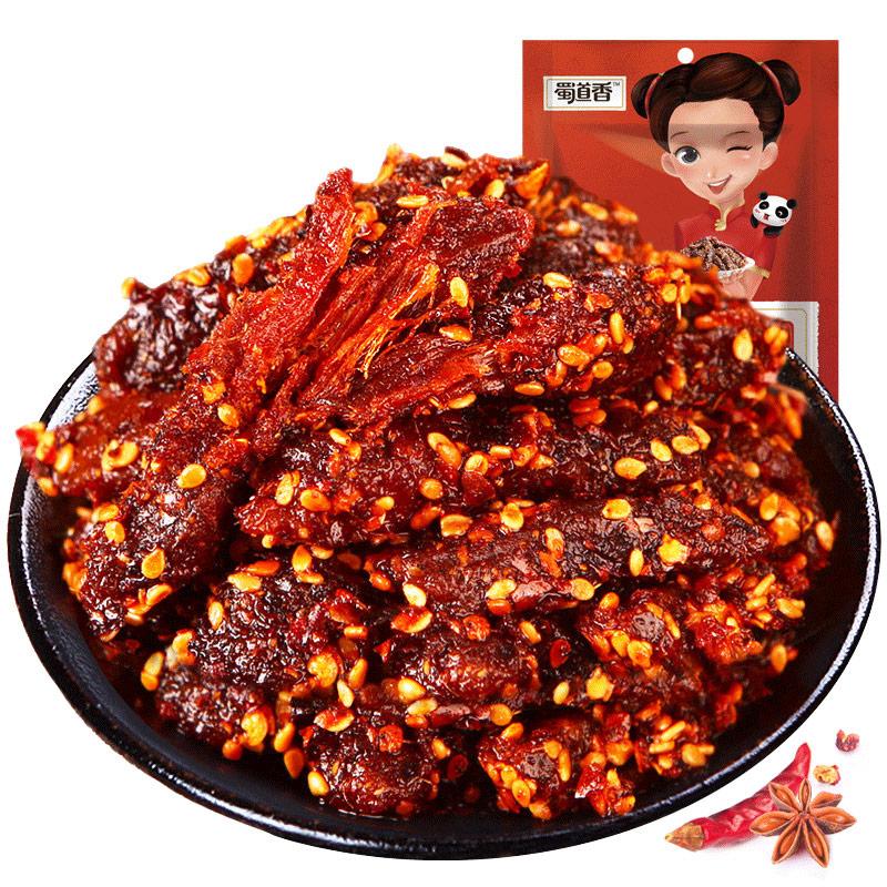 蜀道香 烧烤牛肉干 88g *5件