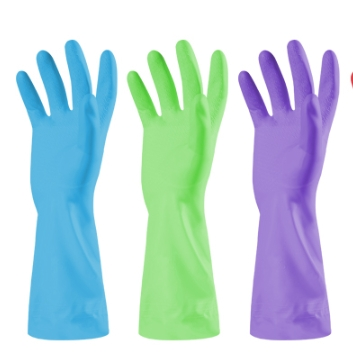 瀚唐 家务橡胶手套 2双装