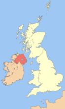 北爱尔兰的地理位置